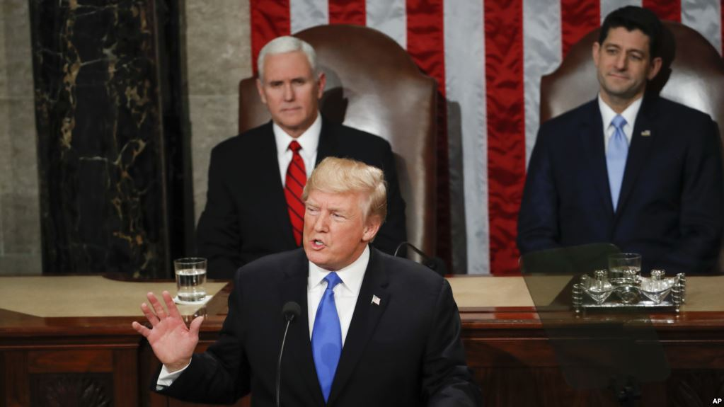 VOA Live, Simultaneous Translation of President Trump's First Address to Congress